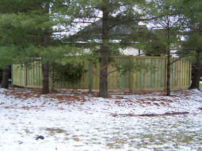 how to build a horizontal basket weave fence
